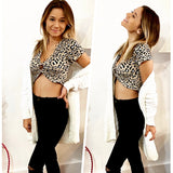 Taupe Leopard Crop Top