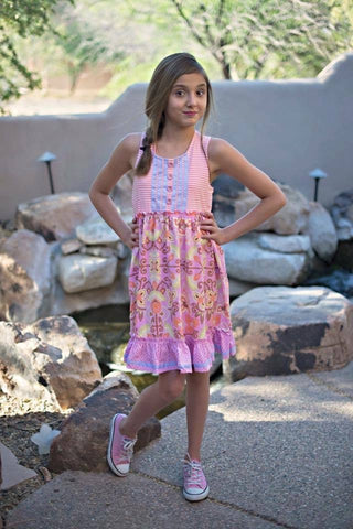 Pink Girls Matilda Jane Floral Dress