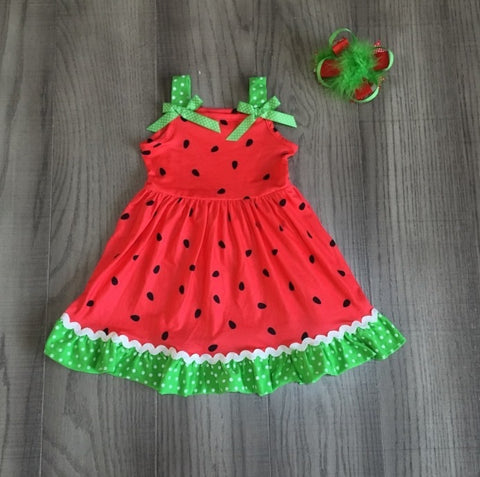 Red Girls Boutique Watermelon Dress