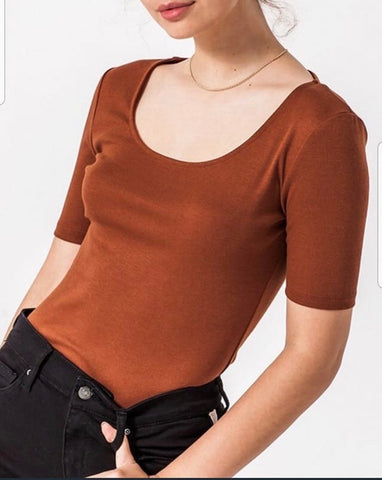 Rust Short Sleeve Bodysuit