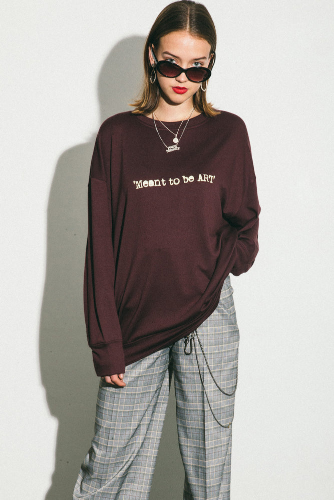 'MEANT TO BE ART' WINE SWEATSHIRT