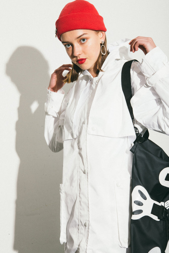 WHITE Digital Camo Parka