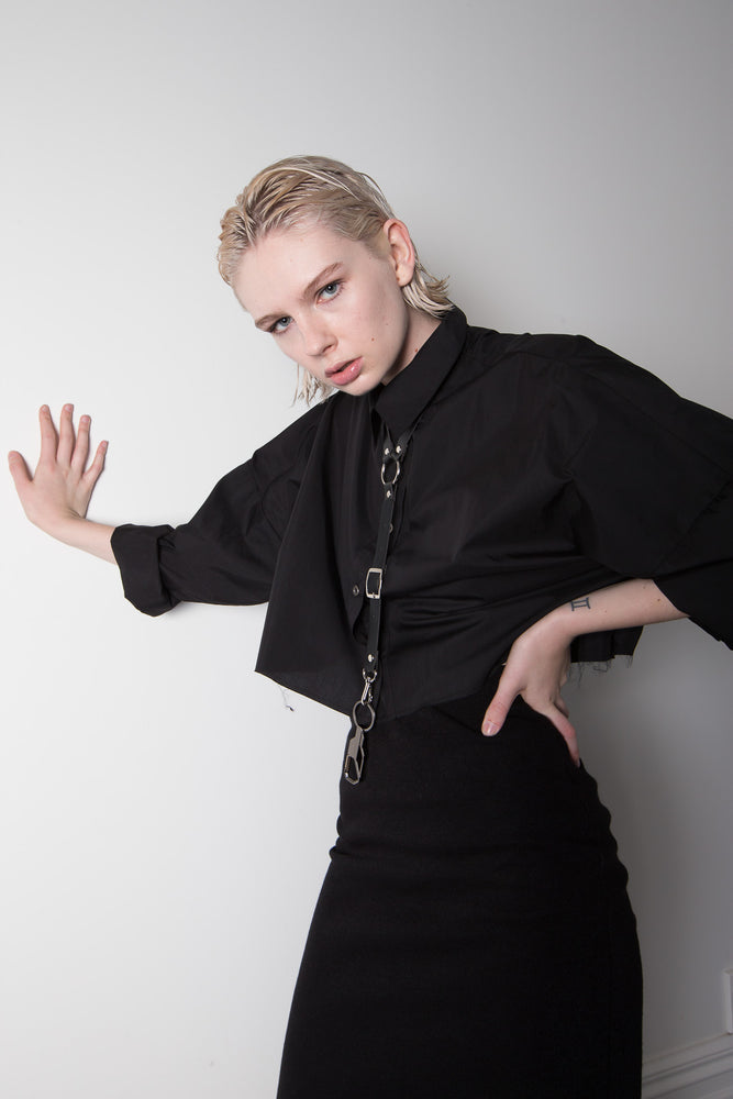 "BLACK CROPPED SHIRT ""only pre-order available"""