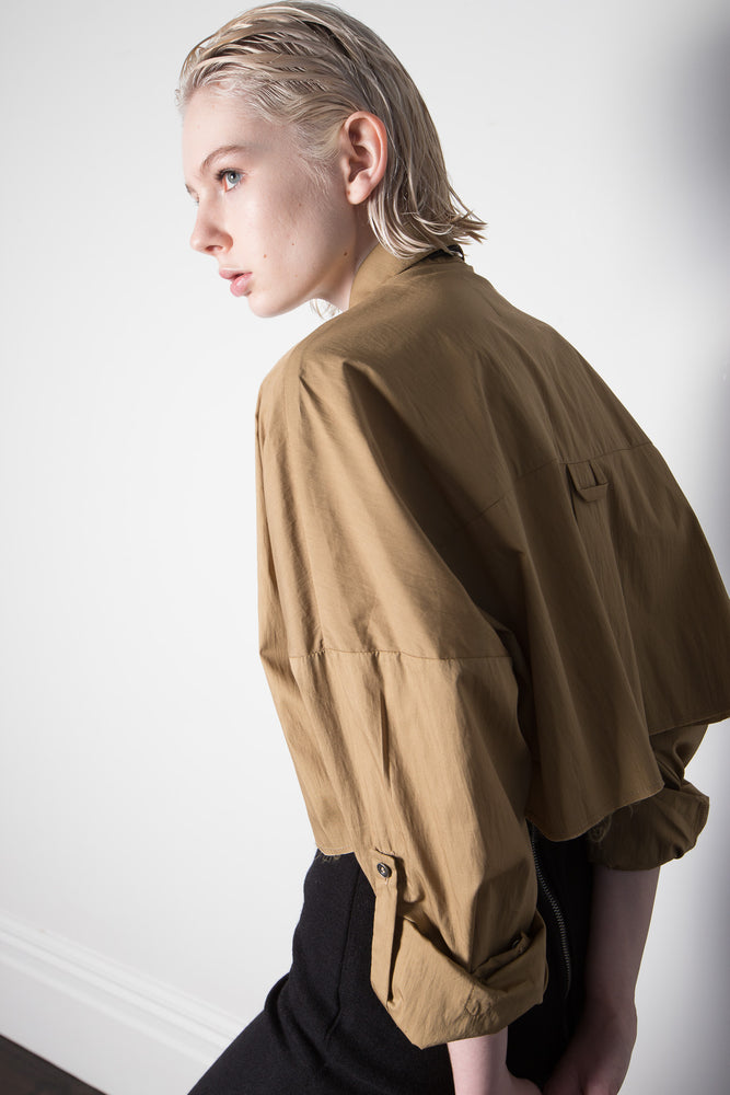 "CAMEL CROPPED SHIRT ""only pre-order available"""