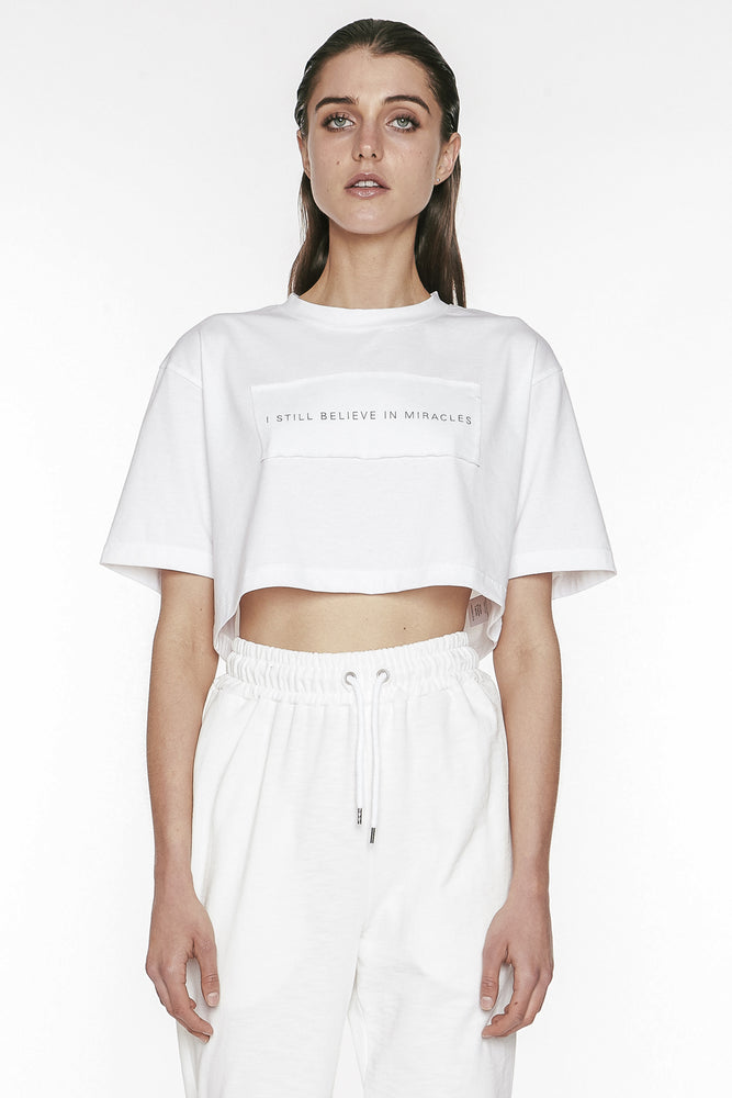 Dropped Shoulder Cropped Top
