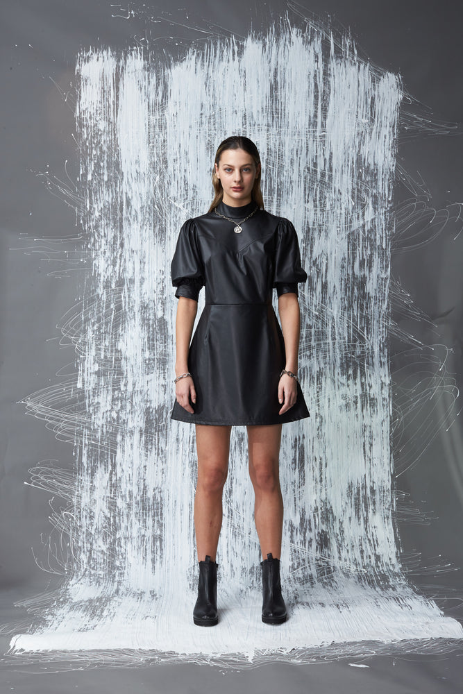 BARULHO VEGAN LEATHER MINI DRESS (IN STORE NOW)