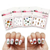 4 Pack Assorted Christmas Nail Decals  (Waterslide Nail Decal)