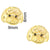 Poodle Face - Gold (2pcs)