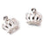 Pearl Crown Nail Charms (2pcs) - Naildrobe Nail Supplies