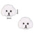 Poodle Face - White (2pcs)