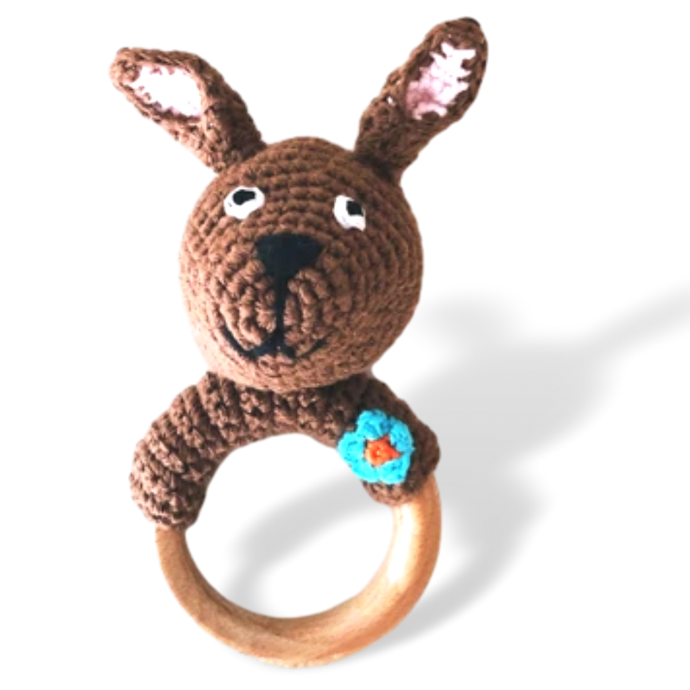 Kangaroo wooden ring