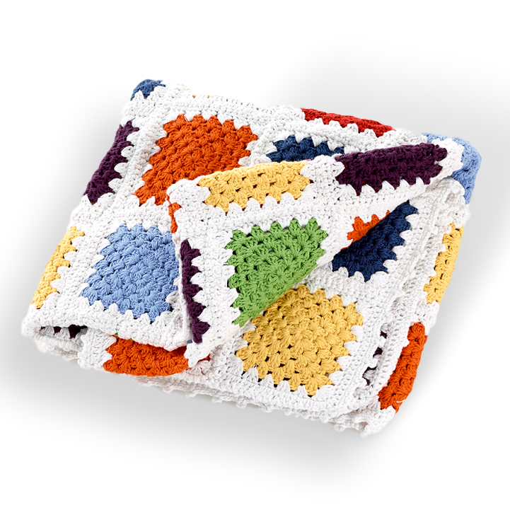 Blanket - Granny square (2 colours) - Samana Living
