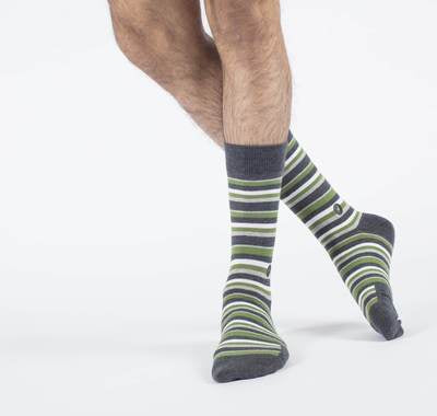 Socks For Disaster Relief -  Stripes - (mens/women sizes) - Samana Living