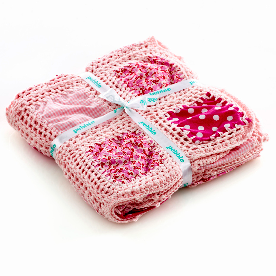 Blanket -  Crochet patchwork - ( 4 Colours ) - Samana Living