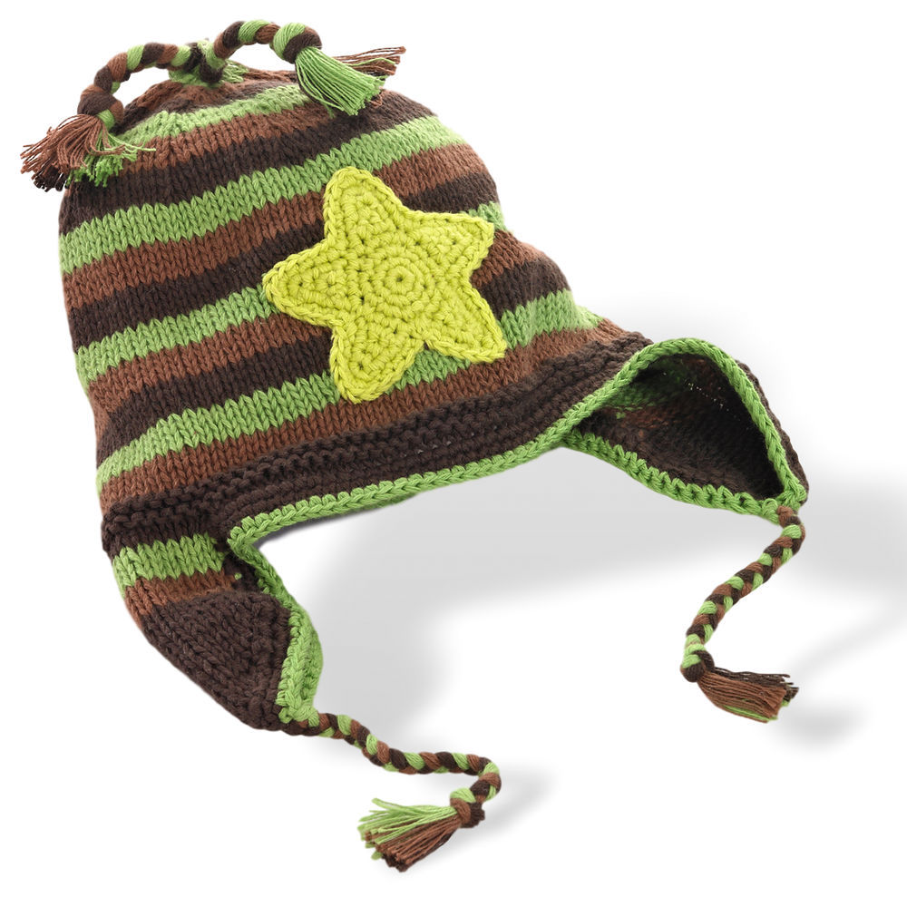 Motif Hat with earflaps -  star -  camo - Samana Living