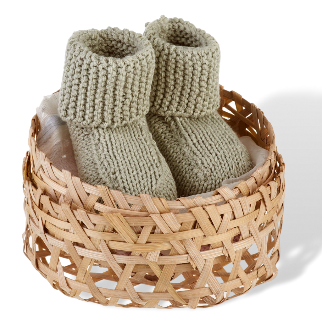 Baby Booties (3 colours)  - Organic - Samana Living
