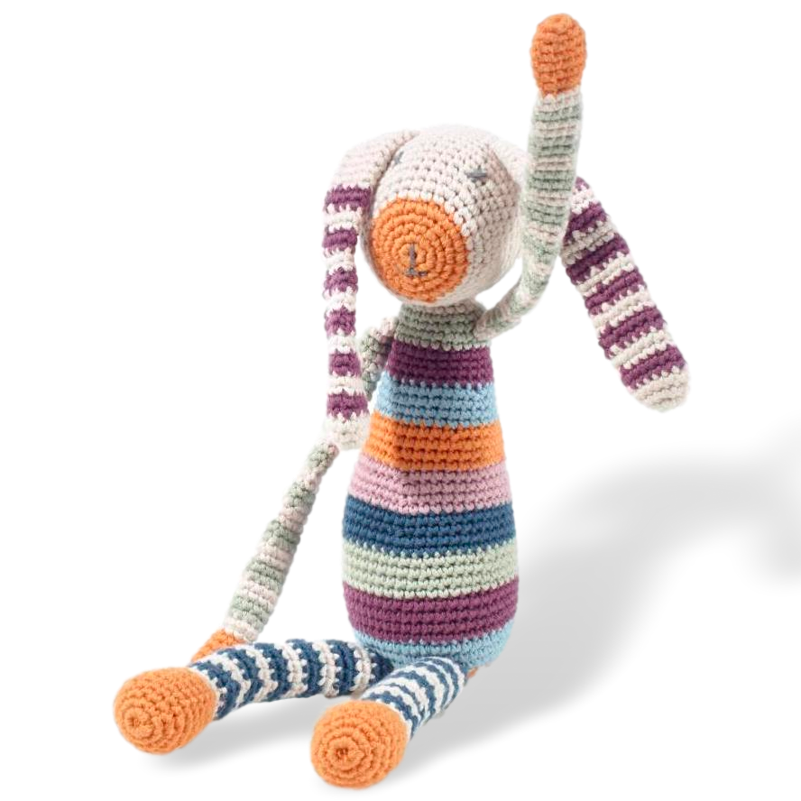 Stripey Bunny - Organic (2 colours) - Samana Living