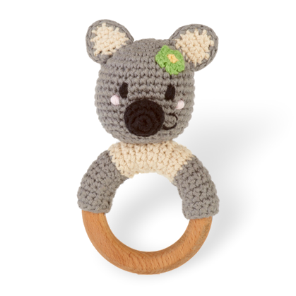 Wooden Ring Rattle - Koala - Samana Living