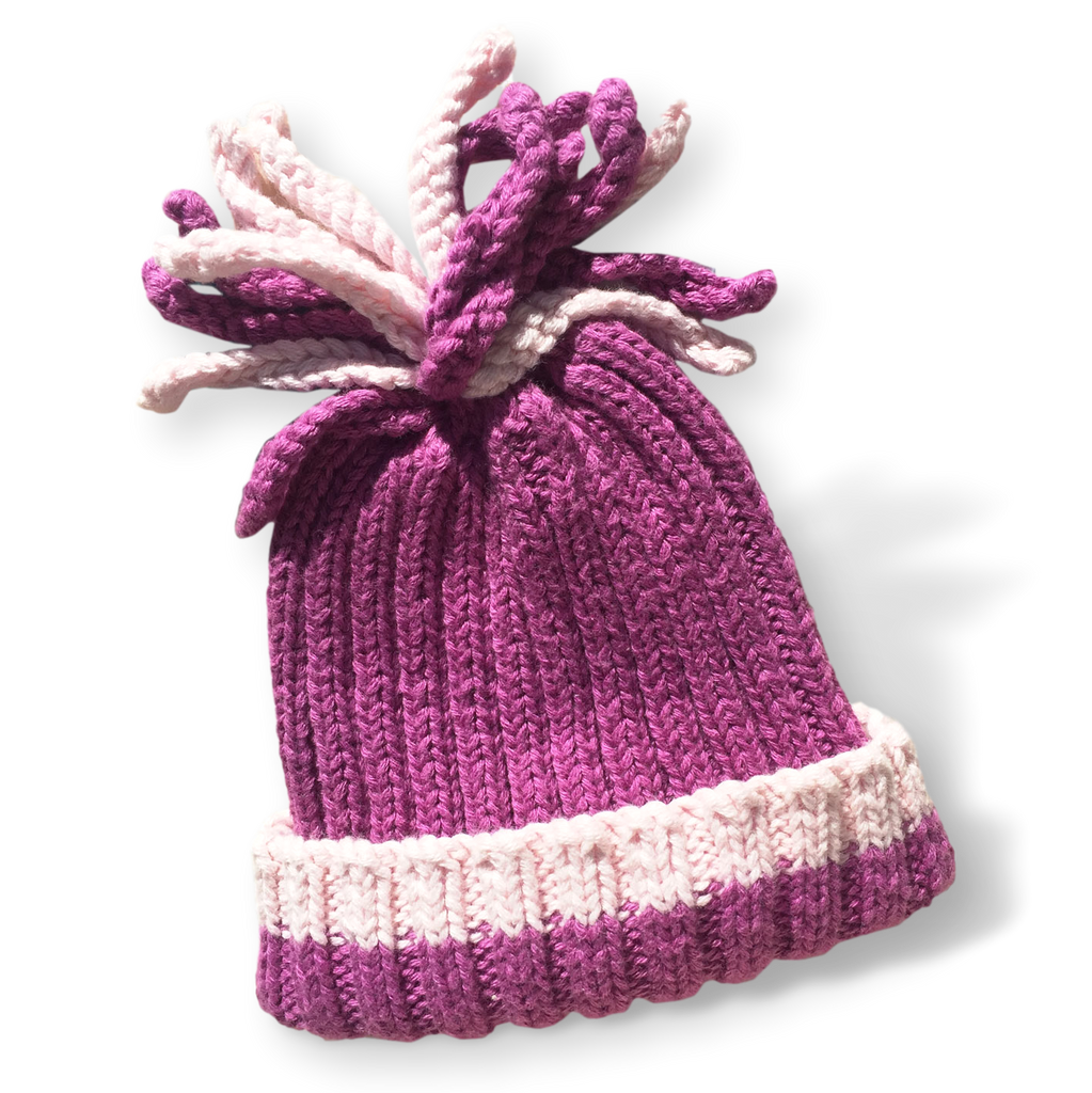Ribbed hat -  Mulberry - Samana Living