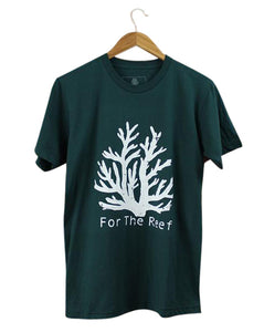 The Coral T - Forest Green