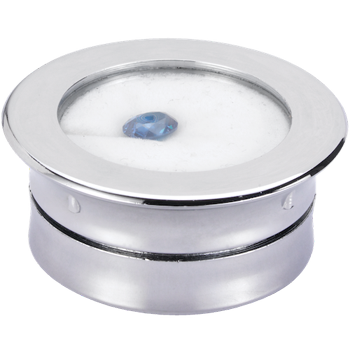 Round gemstone display box (plastic)