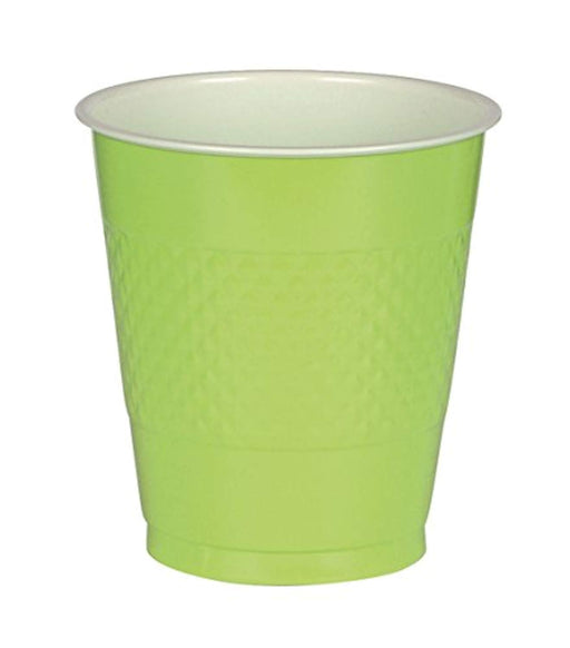 Lime Green Plastic Cups  - 50 Pieces - 16 oz