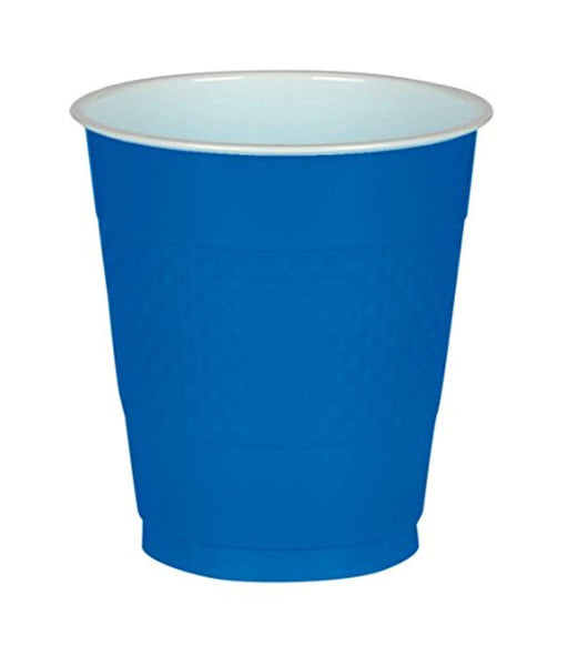 Big Party Pack Bright Royal Blue Plastic Cups | 16 oz. | Pack of 50 | Party Supply - PlayKreative.com