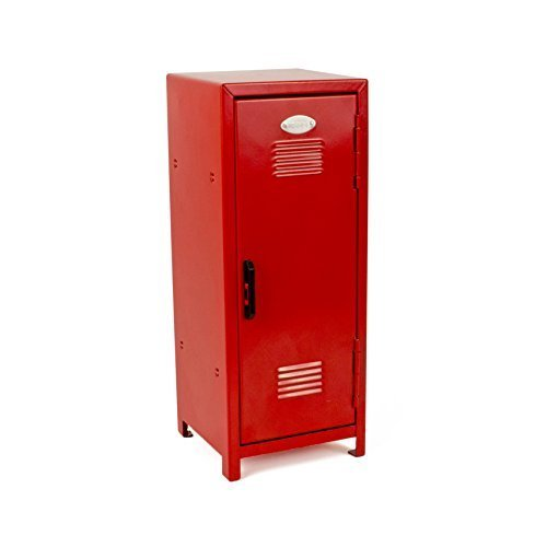 Red Mini Metal Locker - Childrens Storage - PlayKreative.com