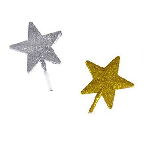 "Glitter Star Fairy Princess Magic Wand 19"" - Pack of 12"