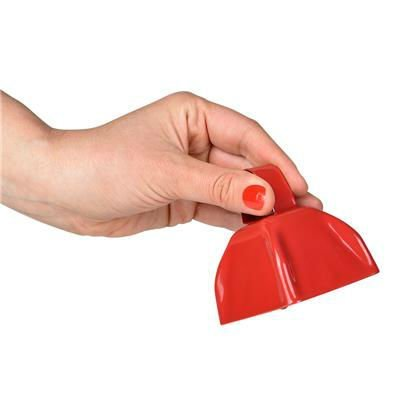Black Metal Cowbell Noisemakers - School Cowbells Set 12 Pack - Play Kreative - PlayKreative.com
