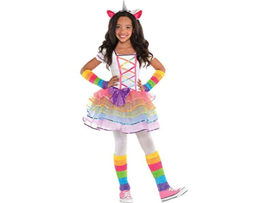 Unicorn Girls Rainbow Costume - Small (4-6)