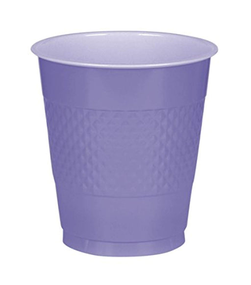 Purple Plastic Cups  - 50 Pieces - 16 oz