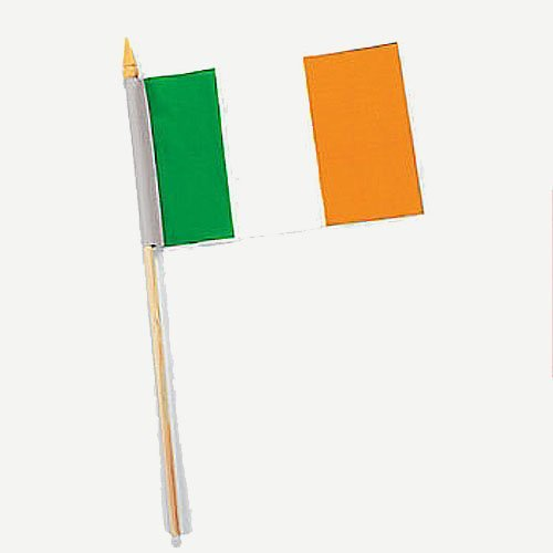 "Flag Of Ireland-12""x18"" On A Stick - PlayKreative.com"