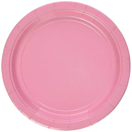 Pink Lunch Plates - 7 Inch - 50 Pack