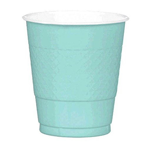 Robin's Egg Blue Plastic Cups  - 20 Pieces - 12 oz