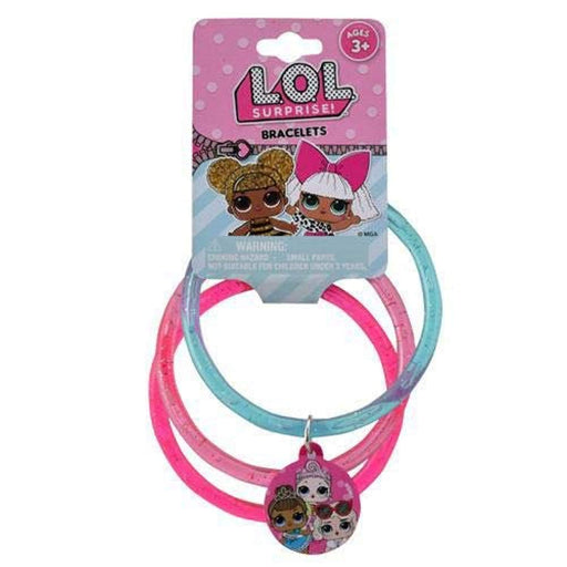 L.O.L. Surprise Glitter Bangles with Plastic Charm  - Pack of 4