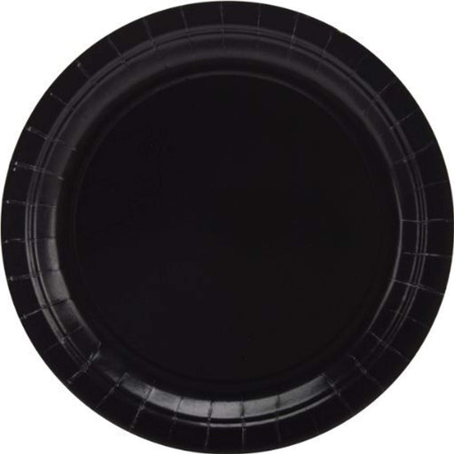 Black Lunch Plates - 7 Inch - 50 Pack - PlayKreative.com