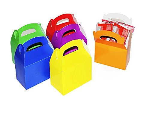 Play Kreative Assorted Colors Gable Treat Box - Pack of 12 - PlayKreative.com