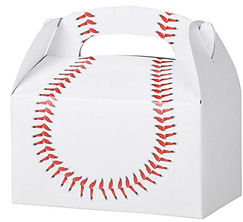 Play Kreative Baseball Gable Treat Box - Pack of 12 - PlayKreative.com