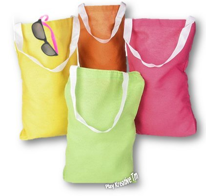 Neon Canvas Tote Bags - Play Kreative TM - PlayKreative.com