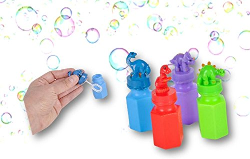 Dinosaur Colorful Bubble Bottles Assortment 24 Pack - Play Kreative TM - PlayKreative.com