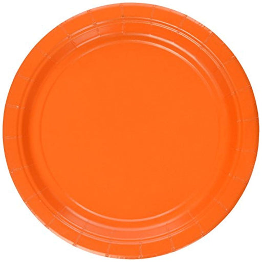 Orange Lunch Plates - 7 Inch - 50 Pack