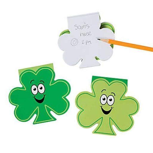 St. Patrick's Day Shamrock Shaped Notepad - Pack of 24
