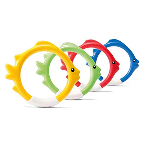 Intex 55504 Water Sports 4Piece Underwater Diving Fun Rings, One Size, Multi