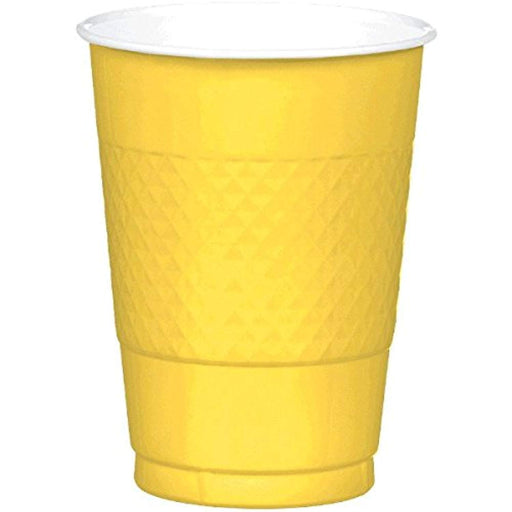 Yellow Plastic Cups  - 200 Pieces - 16 oz