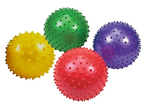 "Play Kreative Knobby Balls - 10"" Party Knobby Bounce Balls- 5 colorful Spike Bal - PlayKreative.com"
