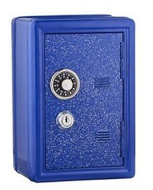 Glitter Safe Bank - Mini Locker with Glitter - Kids Storage Locker (Blue) - PlayKreative.com