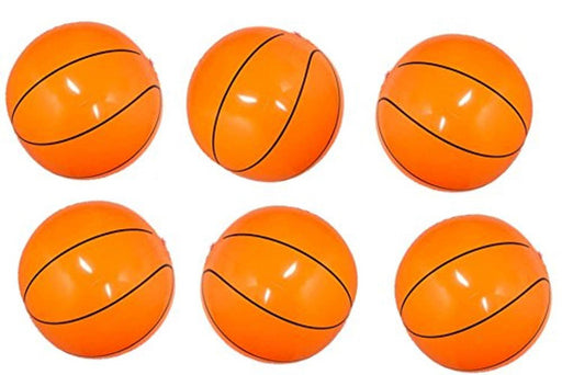 Inflatable Basketballs - 16 inch Beach Balls - 1 Dozen