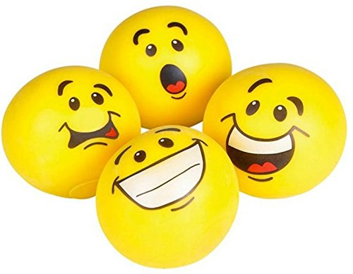Play Kreative Emoji Pull and Stretch Bounce Stress Balls - Pack of 4 - PlayKreative.com