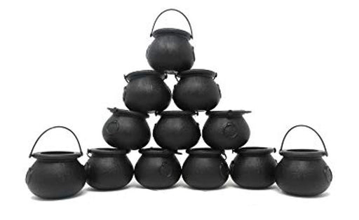 Mini Black Cauldron Candy Buckets - Pack of 24